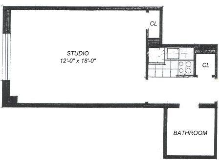 Floor plan of BROADMOOR, 235 West 102nd St, 6Q - Upper West Side, New York
